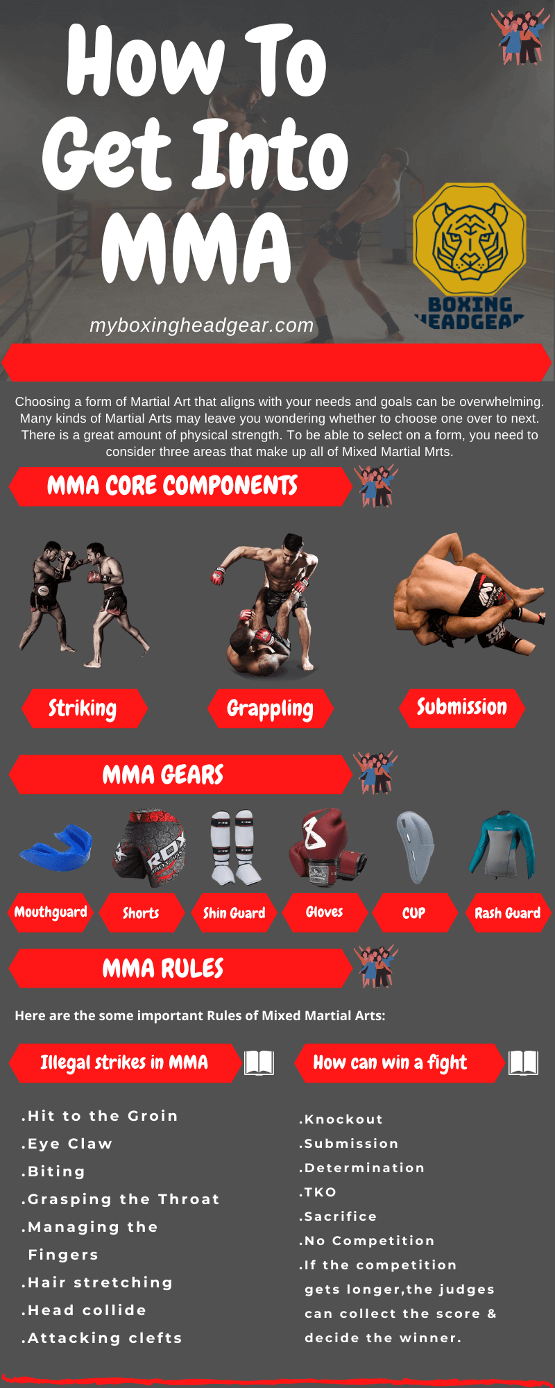 How to get into MMA info-graphics